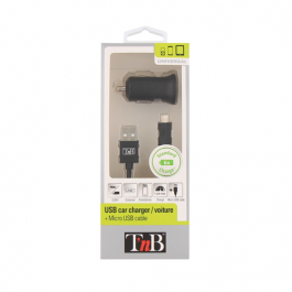 CARREGADOR DE ISQUEIRO + CABO MICRO USB TNB