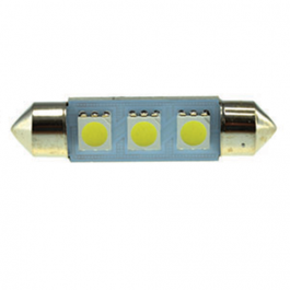 2 LÂMPADAS DE LED VALLUX T11 ALTA INTENSIDADE 4 SMD 36MM BRANCO