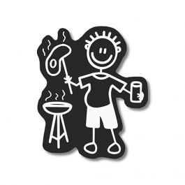 AUTOCOLANTE FAMILY STICKER HOMEM BARBECUE
