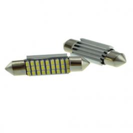 2 LÂMPADAS DE LED VALLUX T11 S1HP 36MM CANBUS  BRANCO