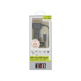CARREGADOR DE ISQUEIRO MICRO USB + PORTA USB TNB