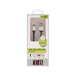 CABO MICRO USB 2M TNB PRETO