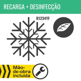 RECARGA DE AR CONDICIONADO R1234YF + DESINFECÇÃO DO HABITÁCULO