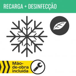 RECARGA DE AR CONDICIONADO R134A + DESINFECÇÃO DO HABITÁCULO